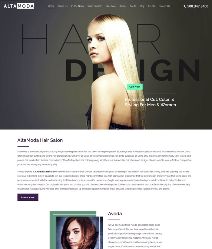 professional website design services MA