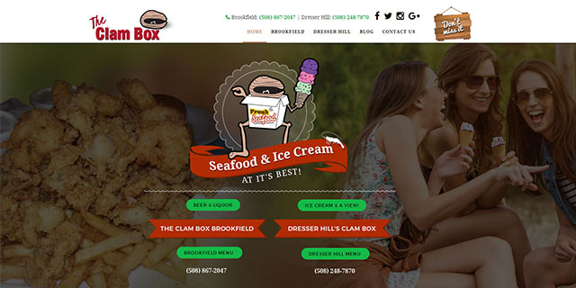 restaurant website designg services